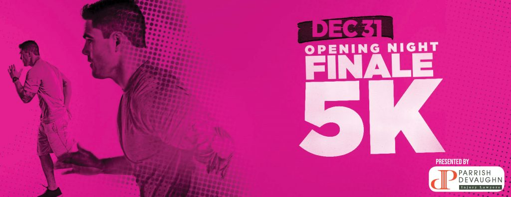 Finale 5K Dec 31 Presented by Parrish Devaughn